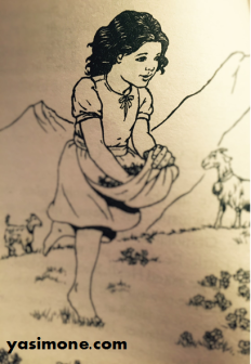 An illustration from my copy of Heidi.