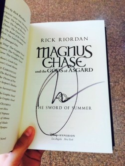 I have a book with Rick Riordan's signature in it, therefore I have lived live.